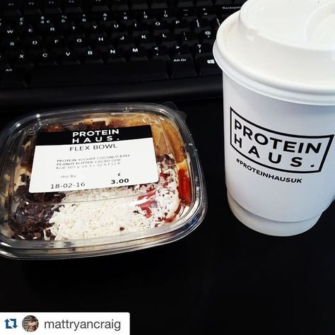 #Repost @mattryancraig with @repostapp.  Morning ritual is turning into a morning addiction @proteinhausuk Flex Bowl (protein yoghurt coconut ball peanut butter cacao nibs goji berries) & Latte  #morningrituals #eatclean #foodporn #flexbowl #flexappeal #flexualhealing by proteinhausuk