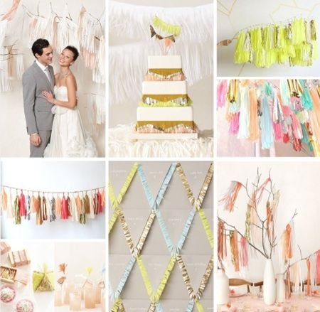 Our new favorite décor trend...Fringe! Fringe wedding inspiration  #wedding #decorations #trends