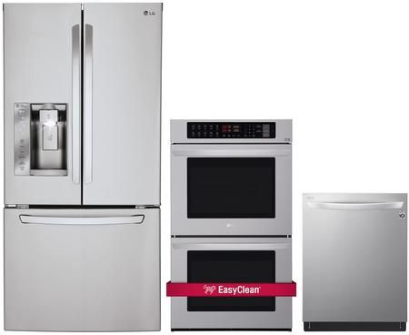 Lg 1102895 3 Piece Stainless Steel Kitchen Appliances Package Kitchen Appliance Packages Kitchen Appliances Lg French Door Refrigerator
