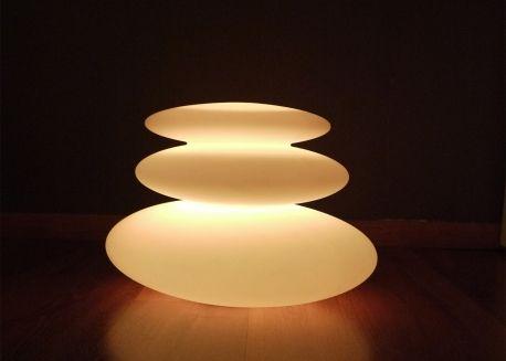 Lampe Triple Galet Lumineux O 28 Cm Exterieur Interieur Stoons