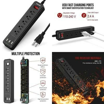 Advertisement Usb Surge Protector Power Strip Mountable 5ft Extension Cord Multiple Protection In 2020 Extension Cord Power Strip Surge Protector