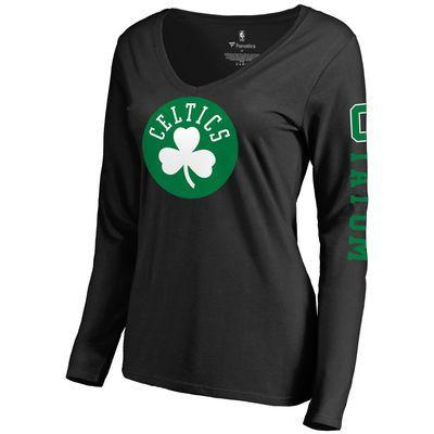 quality design a21b9 483f9 Women's Boston Celtics Jayson Tatum Fanatics Branded Black ...