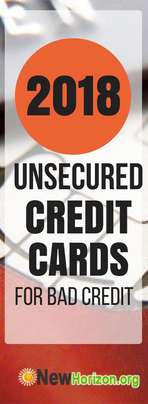 Unsecured Credit Cards - Bad/NO Credit & Bankruptcy O.K
