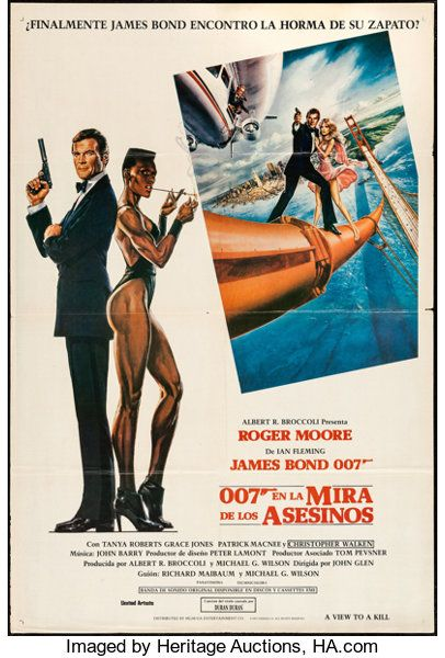 Movie Posters James Bond A View To A Kill Mgm United Artists