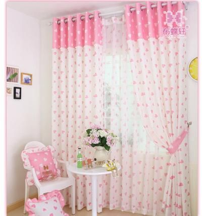 Rose Pink Ladder Rope Style Curtain Panels For Princess Girls