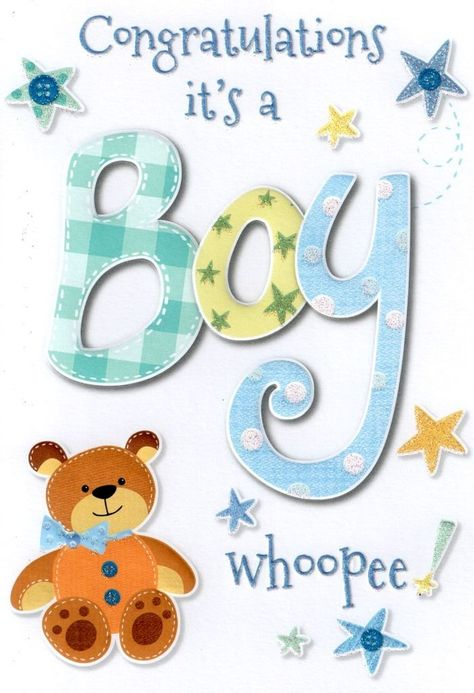 £1.29 GBP - Baby Boy Card Lovely Cello Wrapped Congratulations Greeting Cards #ebay #Home & Garden