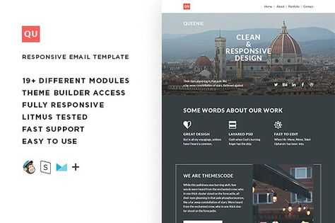 Queenie – Responsive Email template