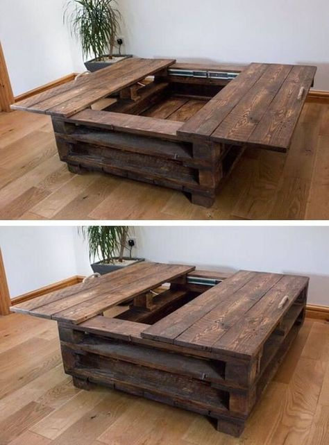Awesome Wooden Coffee Table Design Ideas Match For Any Home Design 22 tables design ideas Awesome Wooden Coffee Table Design Ideas Match For Any Home Design 22 Wooden Coffee Table Designs, Diy Coffee Table, Decorating Coffee Tables, Modern Coffee Tables, Pallet Coffee Tables, Coffee Table Storage, Cofee Tables, Pallet Benches, Pallet Chair