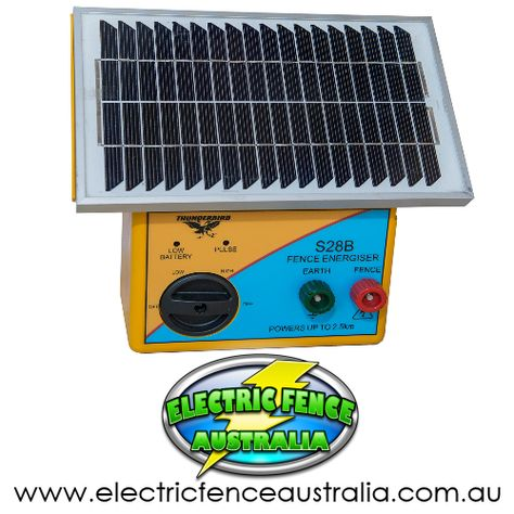 Thunderbird S28b 2 5km Solar Electric Fence Energiser Solar Electric Fence Electric Fence Energizer Battery Lights
