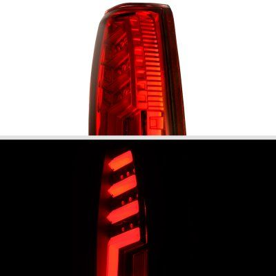 Chevy Silverado 1988 1998 Tube Led Tail Lights Red In 2020 Chevy Silverado Led Tail Lights Tail Light