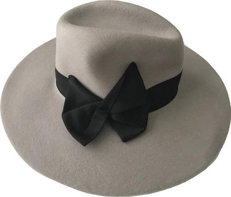 3025ce57f18 NWT GIORGIO ARMANI COLLEZIONI Wool ladies Hat SZ 57 with black bow  375  retail  GiorgioArmani  Floppy
