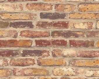 Peel And Stick Self Adhesive Wallpaper Brick Peel And Etsy Removable Brick Wallpaper Brick Wallpaper Peel And Stick Wallpaper