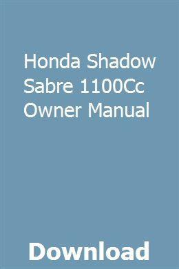Honda Shadow Sabre 1100cc Owner Manual Pdf Download Owners Manuals Honda Shadow Manual