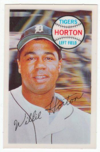 1970 Kelloggs 3 D Willie Horton 69 Nmm 5 Baseball Cards 1952