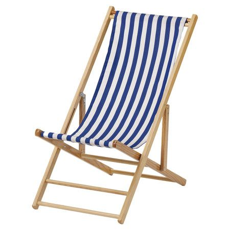 Awesome Hardwood Framed Folding Beach Chair With A Striped Sling Caraccident5 Cool Chair Designs And Ideas Caraccident5Info