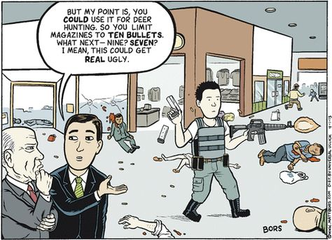 Disgusting lies used to excuse an industry mocked roundly in a comic by Bors