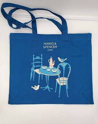 """ALDI """"SAY CHEESE!"""" NEW! REUSABLE BLUE LARGE SHOPPING BAG"""