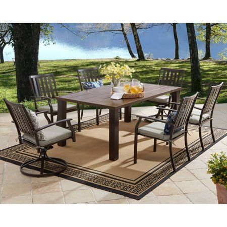 ae42549680b6a30cf19cfe2186e95184 - Better Homes & Gardens Camrose Farmhouse 6 Person Dining Table