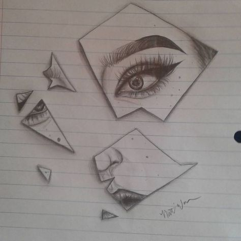 She broke the mirror with her poppin' highlight and sharp wing  just a drawing d...#broke #drawing #highlight #mirror #poppin #sharp #wing