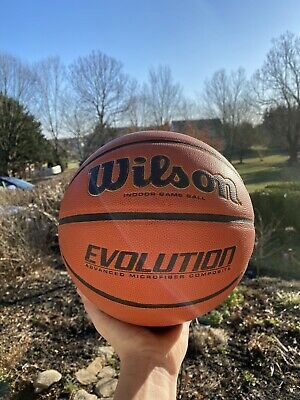 Advertisement Ebay Wilson Evolution 29 5 Inch Indoor Game Basketball Black In 2020 Indoor Games Basketball Indoor