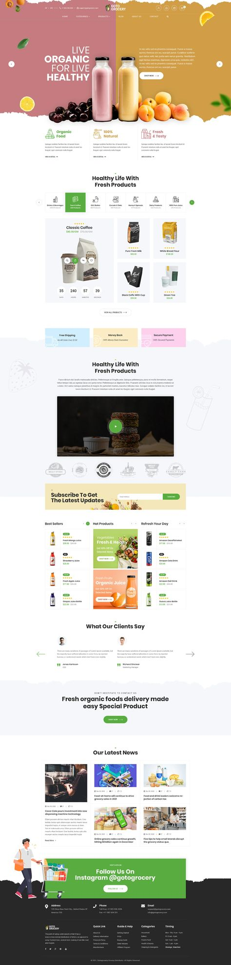 Gotogrocery - Grocery PSD Template