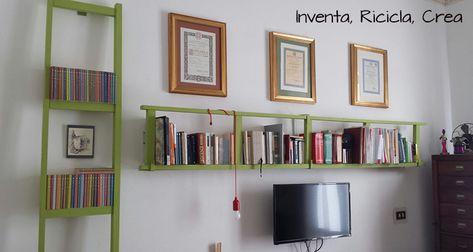 Arredamento Faidate Libreria Con Scala A Pioli Inventa Ricicla