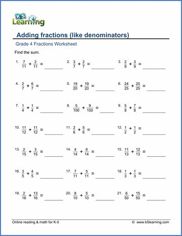 Free Basic Math Worksheets Fractions In 2020 Adding Fractions Fractions Worksheets Math Fractions Worksheets