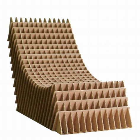 Cardboard Chair concept by Piotr Pacalowski at the Academy of Fine Arts in Saint-Etienne, 1998