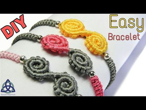 Easy Friendship Macrame Bracelet Tutorial  Spiral Bracelet  Diya  DIY -  YouTube be9a2c46e59