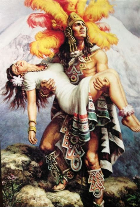 Image Result For Painting Of Aztec Warrior Holding Woman Aztec Art Mexican Art Aztec Warrior