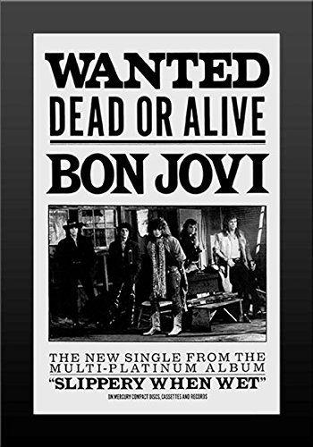 11x17 framed poster print bon jovi