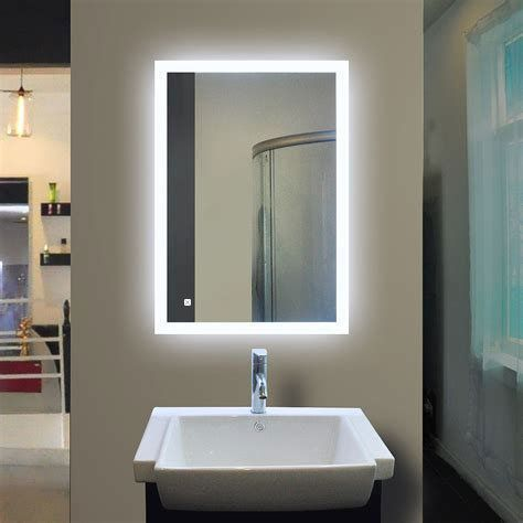 24 X36 Both Horizontal And Vertical Wall Mounted Led Vanity Backlit Mirror With Touch Sensor Backlit Bathroom Mirror Bathroom Mirror Design Backlit Mirror