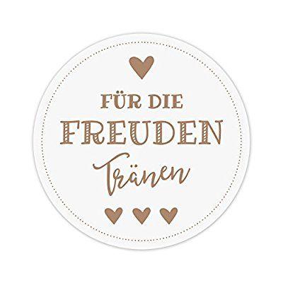 Freudentränen Flachbeutel /& Sticker für Hochzeit Taschentücher Mini Papiertüten