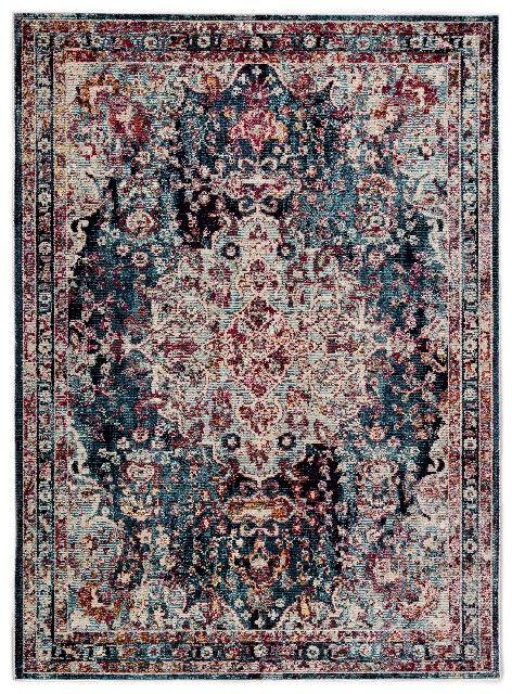 Jaipur Living Loren Medallion Teal Turquoise Area Rug 7 10 X9 10