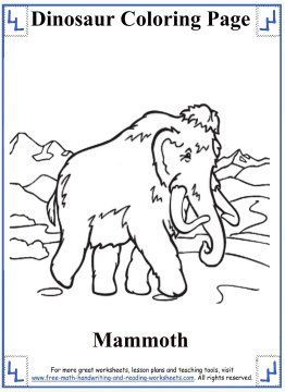 Dinosaur Coloring Pages Wooly Mammoth Dinosaur Coloring Pages