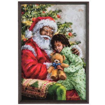 Santa With Child Wood Wall Decor Hobby Lobby 1688050 Wood Wall Decor Canvas Wall Decor Wood Wall