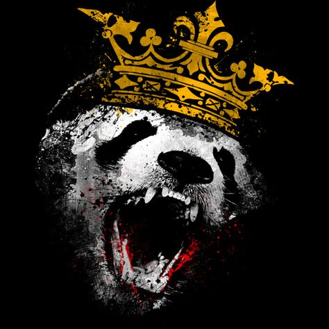 KING PANDA is a T Shirt designed by clingcling to illustrate your life and is available at Design By Humans