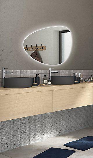 Espejo De Baño Con Luz Gota 80 X 55 Cm Leroy Merlin Espejos Para Baños Espejos Muebles De Baño