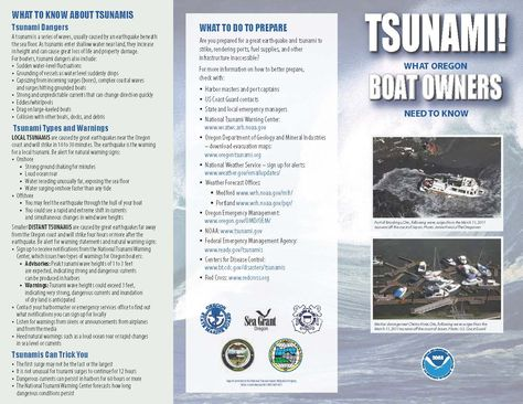 Tsunami! : what Oregon boat owners need to know, by the Oregon State Marine Board