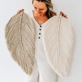 Venti Macramé Feather Wall Charm | Etsy