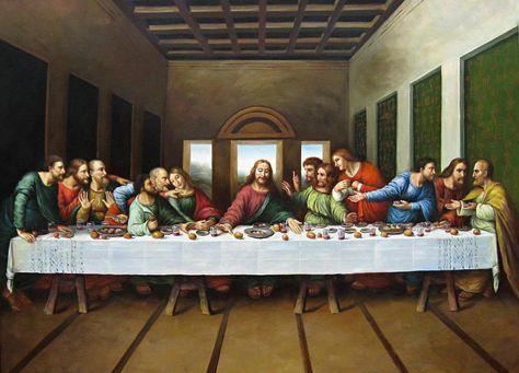The Last Supper Mural by Leonardo Da Vinci art  print