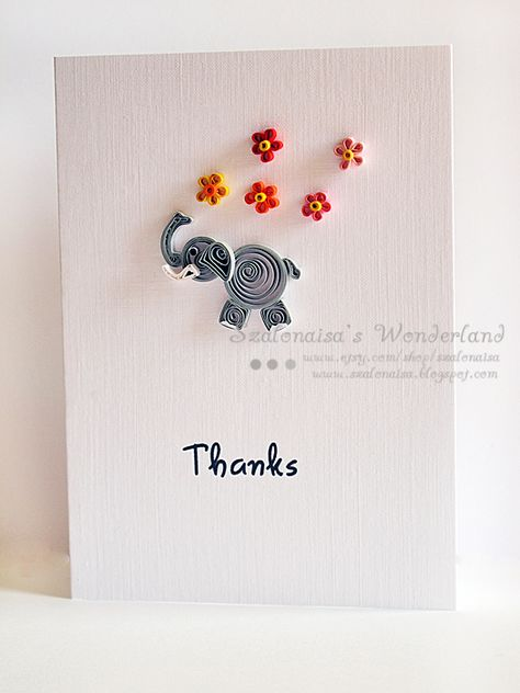 Quilled handmade cards - Szalonaisa's Wonderland
