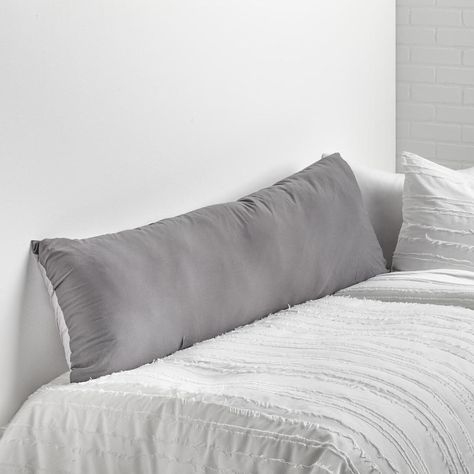 Light Grey Dark Grey Soft Wash Reversible Body Pillow Cover