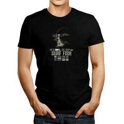 Life Is Simple Eat Sleep Surf Fish T Shirt In 2020 Fishing T Shirts Shirts T Shirt
