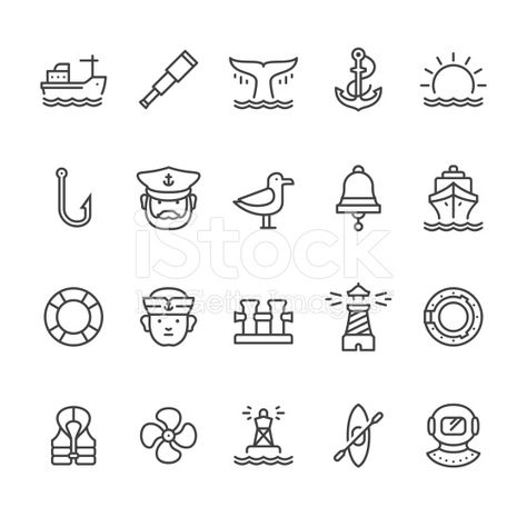 Nautical and Harbor icons