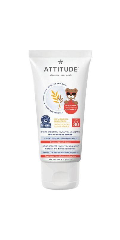 Attitude Little Ones Sensitive Skin Mineral Sunscreen Spf 30 Mineral Sunscreen Sensitive Skin Spf Sunscreen