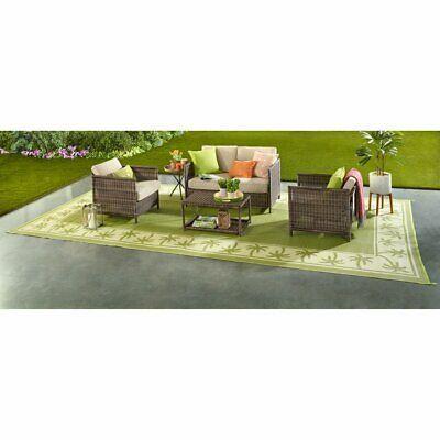 outdoor patio deck rv mat reversible