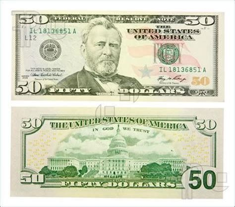 photo relating to Printable 100 Dollar Bill Actual Size identified as 50 greenback invoice again true dimensions FounterCit Greenback cash