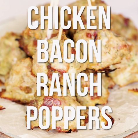 Need a keto friendly easy appetizer idea for your next party? These easy keto chicken bacon ranch poppers are the perfect low carb appetizer for your next party. You can even make them ahead of time. #keto #realbalancedblog #ketorecipevideo #recipevideo #partyappetizer #appetizer #lowcarb