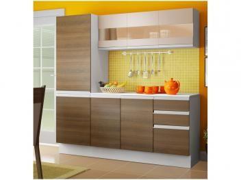 Cozinha Compacta Madesa Smart G20075097g Com Balcao 8 Portas 2